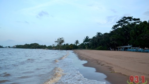 Water and Sand. This view of the beach gives an insight into the cool and calm nature of the beach