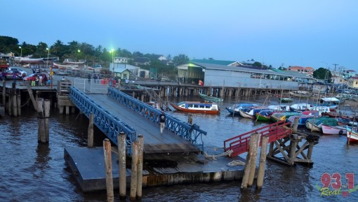 Another view of the Parika Ferry Stelling. The roll-on/roll-off vessels , the MV Kanawan and Sabanto  moor at this section of the stelling which was constructed when the vessels were acquired a few years ago.