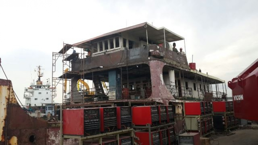 rehab works on lady northcote ferry moving apace