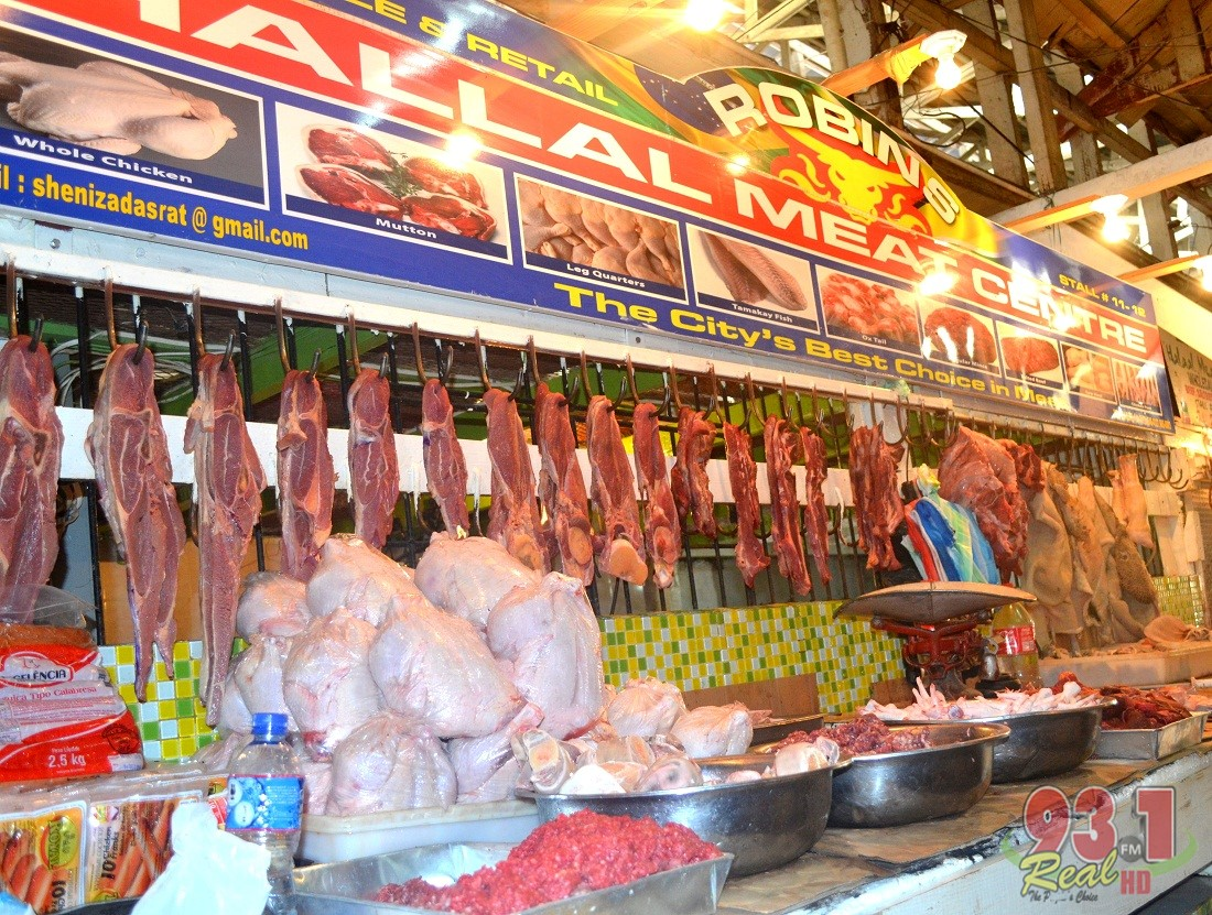 In the meat section of the market, a variety of meats are available daily .These include chicken,beef and pork and minced varieties are also sold daily