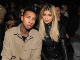 NEW YORK, NY - SEPTEMBER 12:  Tyga (L) and Kylie Jenner attend the Alexander Wang Spring 2016 fashion show during New York Fashion Week at Pier 94 on September 12, 2015 in New York City.  (Photo by Craig Barritt/Getty Images)